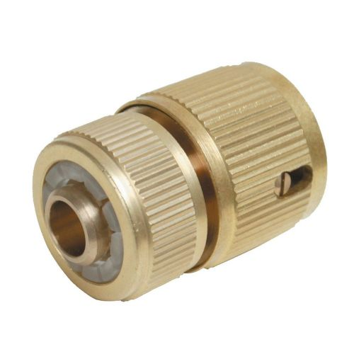 "Silverline 196506 Quick Hose Connector Auto Stop Brass 1/2"" Female"